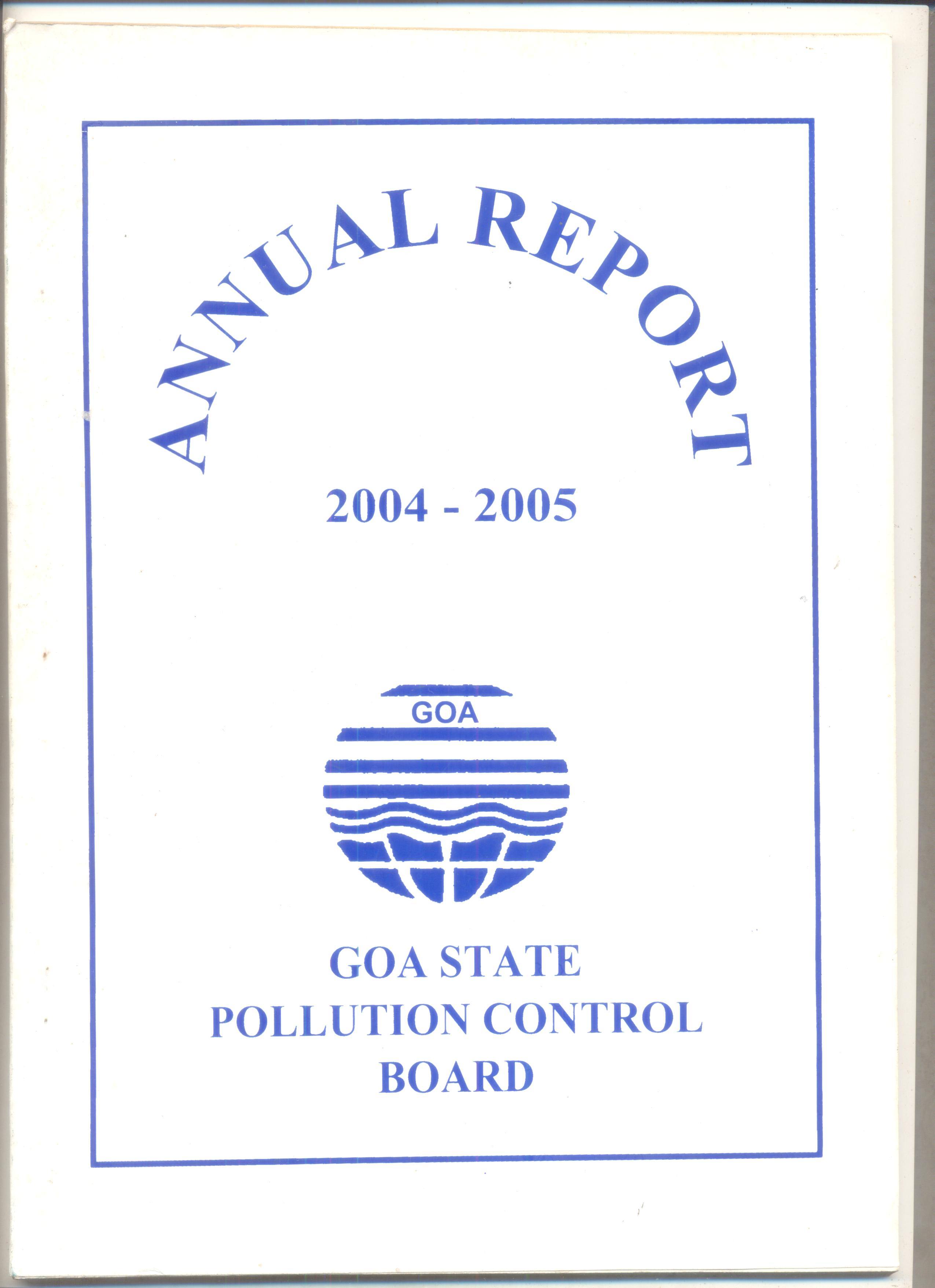 Annual 2004-05 Cover Page