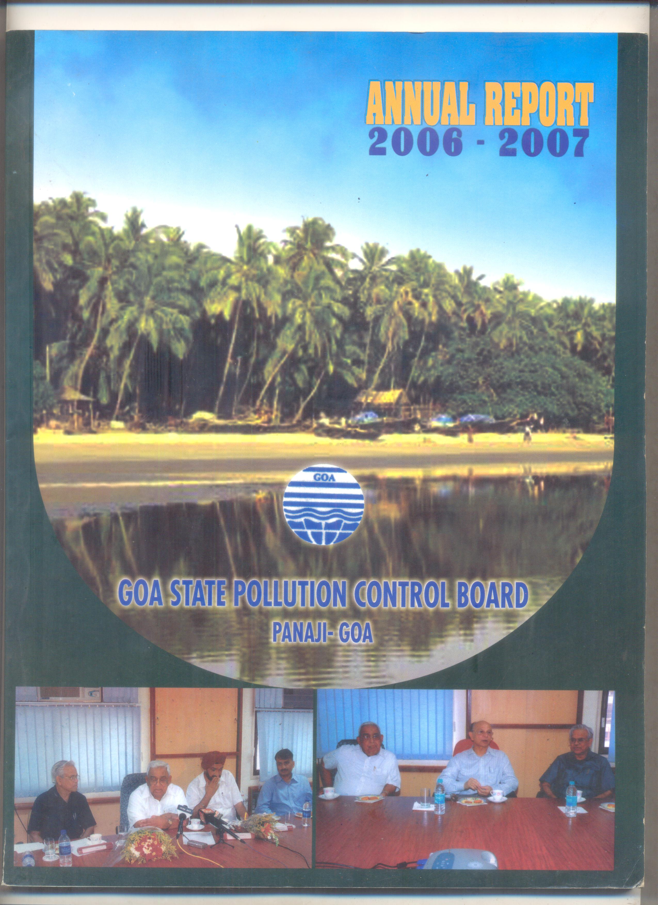 Annual 2006-07 Cover Page