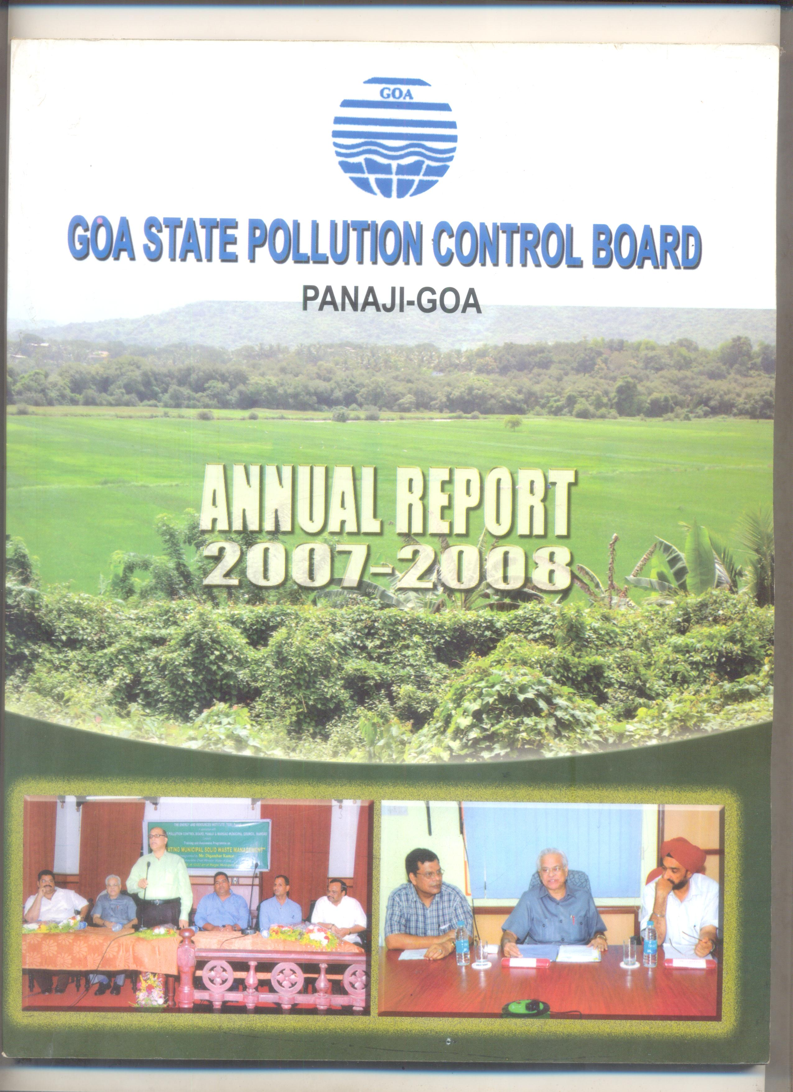 Annual 2007-08 Cover Page